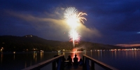 Fireworks Over Lake Glenville 2018